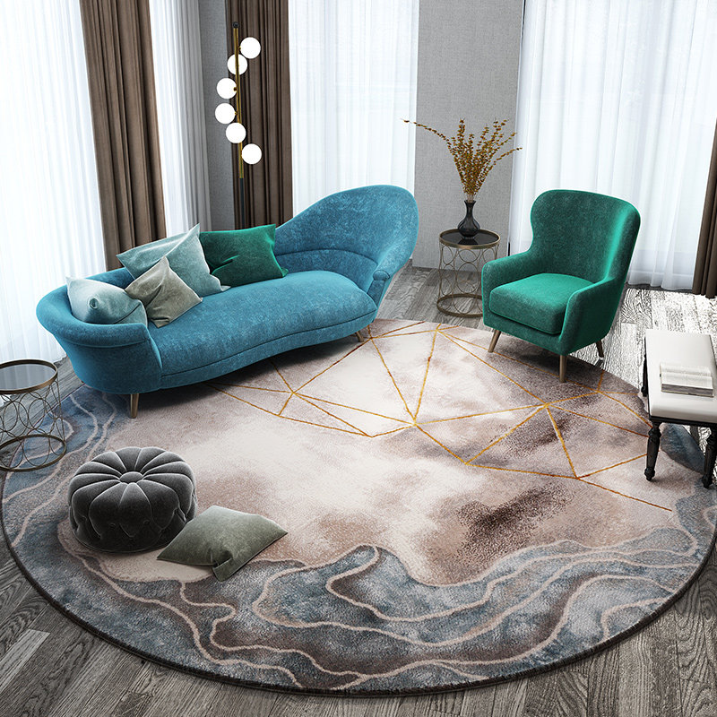 Tapis nordiques pour salon maison tapis rond décoratif chambre canapé Table basse tapis rond tapis d'étude moderne tapis de sol