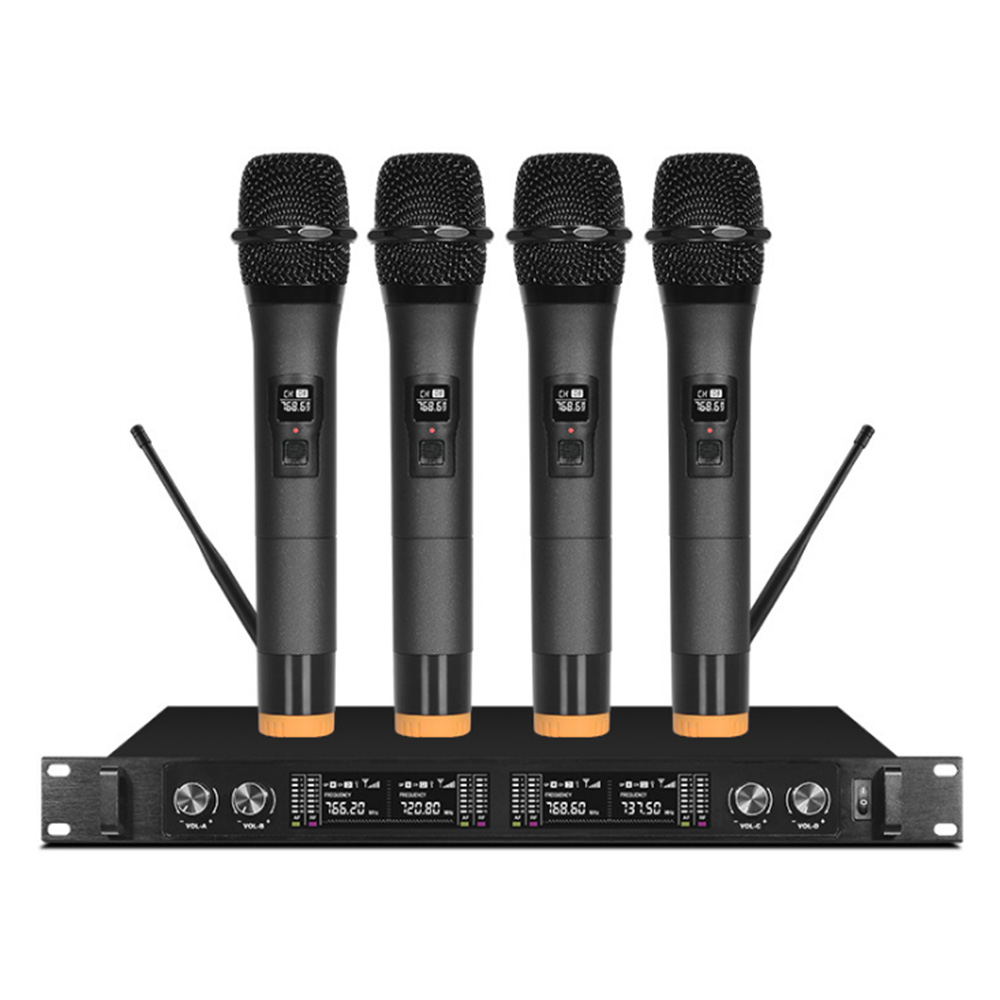 Wireless microphone professional stage one for four handheld headset lavalier condenser conference microphoneWireless microphone professional stage one for four handheld headset lavalier condenser conference microphone