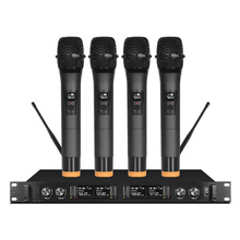 Wireless microphone professional stage one for four handheld headset lavalier condenser conference