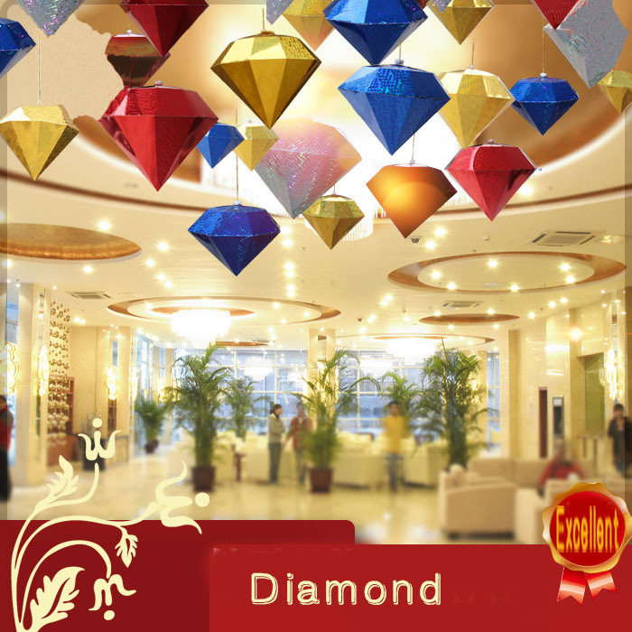 Hot Marketing Christmas Decorations Diamond Lampshade Gem Paper Lantern  Hanging Wedding Xmas Decor-in Christmas .