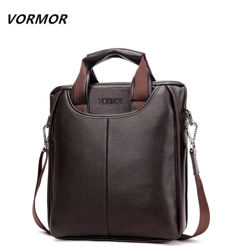 VORMOR Brand PU Leather Men Bags
