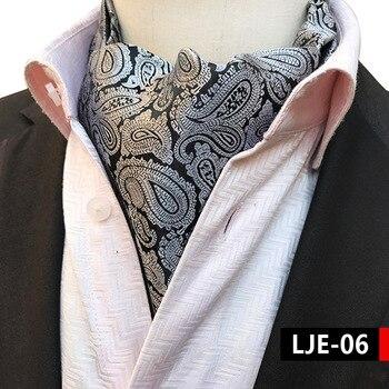 цена 2018 Paisley Silk Men Grey Ascot Cravat Scrunch Self British  Jacquard Neckties Woven Shirt Elegant Quality Microfibra Ascot онлайн в 2017 году