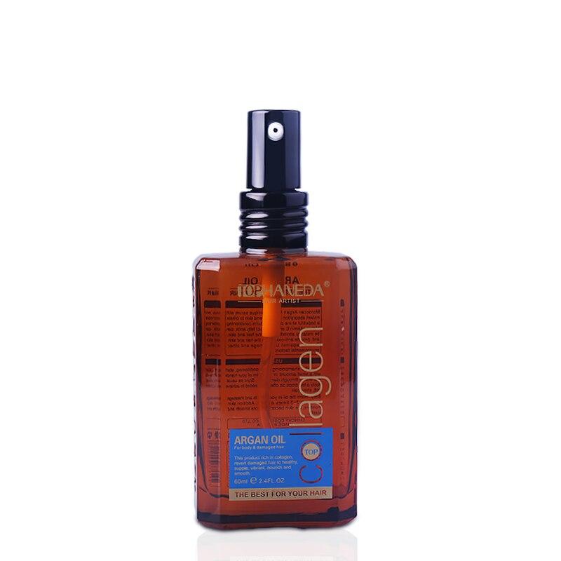 Argan Oil Care Collagen Keratin Straightening 60ml Pre-Perm Repair Hair Smooth Hair Split Ends Body Scalp Treatment Nail Nourish