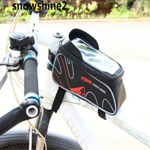 snowshine2 #3522 Bicycle Mountain Bike Bag Top Tube Package Saddle Bag Package Cycling Equipment  FREE SHIPPING WHOLESALE