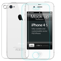 2 Pcs Lot 0 3mm One Front One Back Tempered Glass For IPhone 4 4s 2