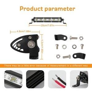 Image 5 - Luces Led Para Auto simple rangée mince LED barre lumineuse droite 8 pouces 18W 6LED Jeep UTV 4x4 bateau camion lampes LED pour les voitures