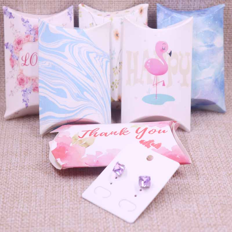 24pcs/1lot Wholesale Pillow Box Jewelry&necklace&Earring DIsplay Box With