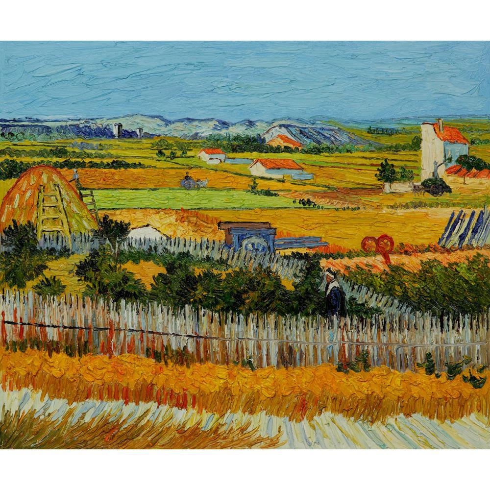 Высокое качество Винсента Картина Ван Гога для продажи Урожай Холст Искусство Ручная роспись