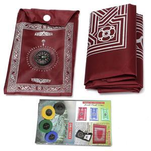 Image 3 - 100x60cm Red Portable Prayer Rug Kneeling Poly Mat for Muslim Islam Waterproof Prayer Mat Carpet Blanket