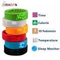 Hraefn Mejor regalo para los niños hombres Deportes Gimnasio Rastreador Pasómetro W2 Banda Inteligente Indicador de Temperatura en tiempo Real Pulsera