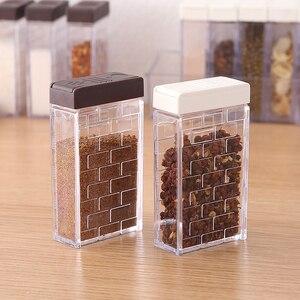 Image 4 - Juego de 2 unidades de tarros de plástico para botellas, organizador de condimentos, cajas de condimentos, cajas de almacenamiento para la cocina, accesorios para Organización del hogar