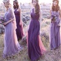 Customed And Wholesale Purple Chiffon Dress 2018 Plus Size High Waist Elegant Summer Floor Length Strapless