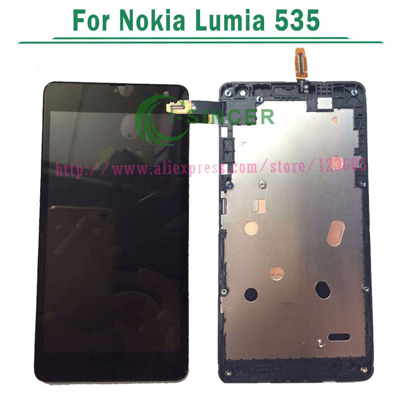 1/PCS vesion 1607 or 1973 For Microsoft LCD Display For Nokia Lumia 535 LCD with Touch Screen Digitizer frame Assembly complete