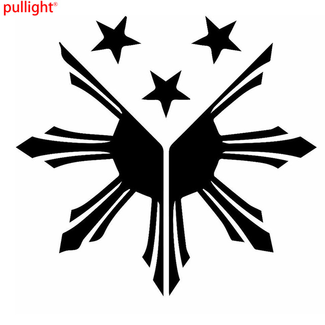 Philippines flag sun stars graphic die cut decal sticker car truck boat