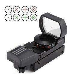 Красная точка прицел 11 мм/20 мм ласточкин хвост прицел рефлекторная Оптика прицел для охоты винтовка пистолет страйкбол тактический Снайпер