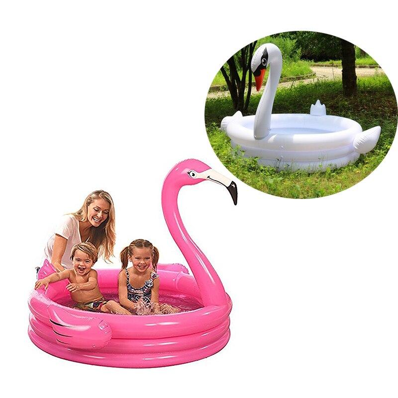 Piscine gonflable géante de cygne de flamant rose de Trinuclear de 150*150*115 cm pour des enfants