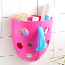 Ванна Шампунь Ванна игрушки стеллаж для хранения сушилка Корзина водонепроницаемый пластиковый контейнер ванная комната стены всасывания смонтированный Органайзер
