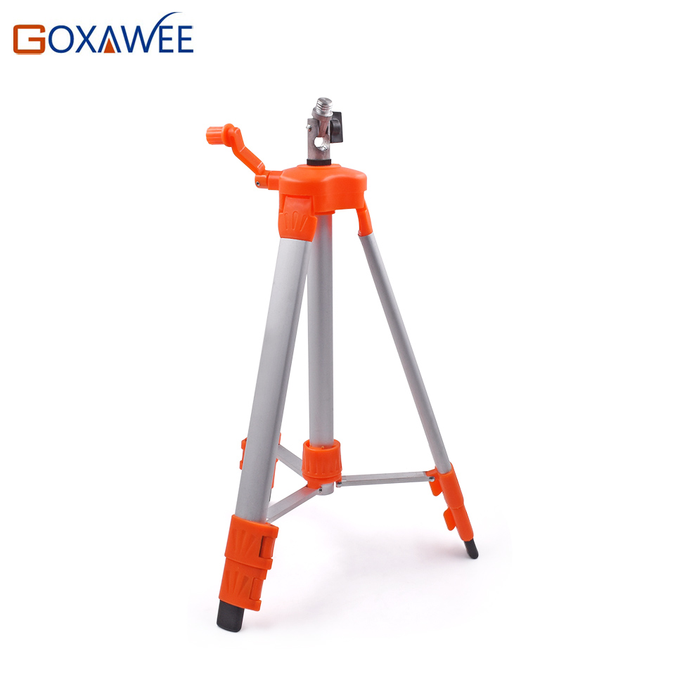 GOXAWEE 120cm Aluminium Alloy Stand Laser Level Tripod For Laser Level Rotary 5/8 Thread 2/5/12 Lines laser Level Stand Holder aladdin level 5