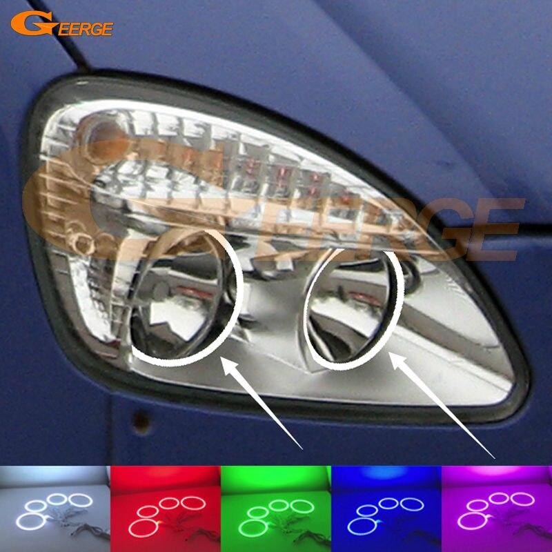 Для Газель ГАЗ 2705 2003 2004 2005 2006 2007 2008 2009 отличный Мульти-Цвет Ультра яркий RGB из светодиодов Ангел глаза комплект
