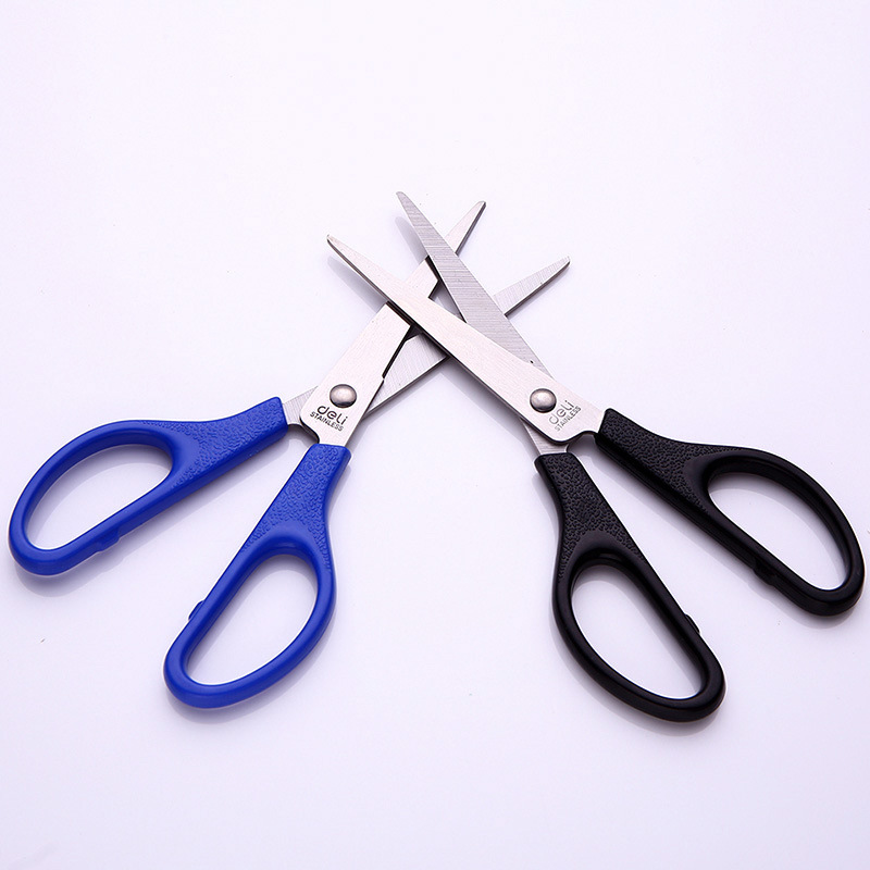 Deli High Quality Stainless Steel Scissors Business Office Home Paper Scissor Kitchen Knife Cutter DIY Cutting Tools Stationery