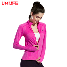 2016 New Women Fitness Yoga Jacket Lady Autumn Winter Long Sleeve Sports Coat Breathable Running Clothes Elastic Cardigan