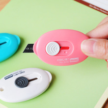 Cute Solid Color Mini Portable Utility Knife Paper Cutter Cutting Razor Blade Office Stationery Escolar Papelaria
