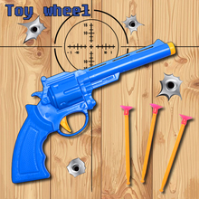Sucker Bullets Cool Revolver Outdoor Fun Sports water Fun Toy Gun airsoft air guns CS Children