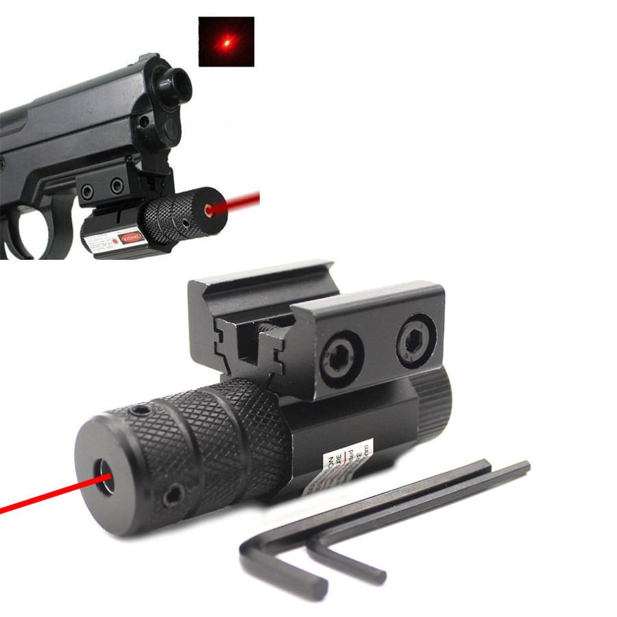 compact Tactical Mini Red Dot Laser Sight Scope fit Picatinny Rail Mount 11mm 20mm Military Gear Equipment