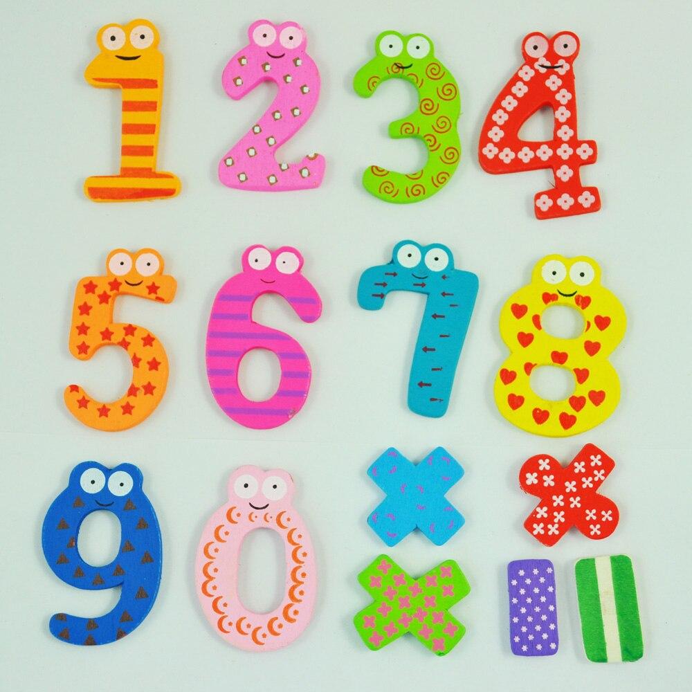 Маха Веселые красочные магнитные цифры деревянный Магниты на холодильник детские развивающие игрушки подарок
