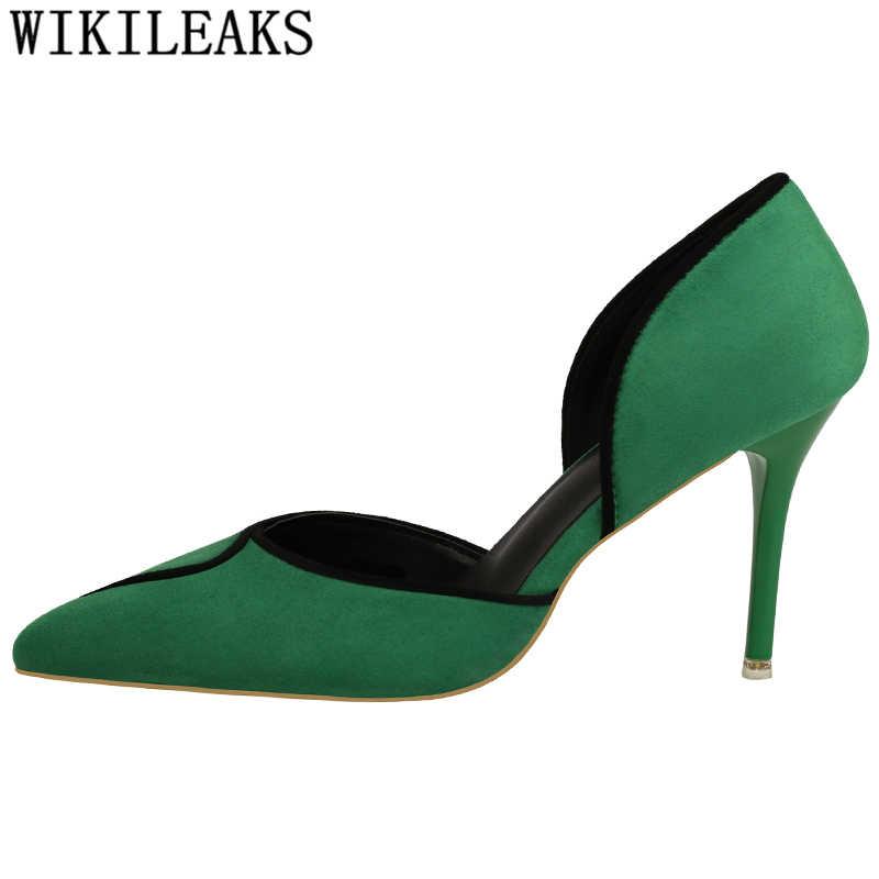 c62e933ac42 ... Sandalias de tacón alto Zapatos elegantes de las mujeres de la marca  bombas extrema alta tacones