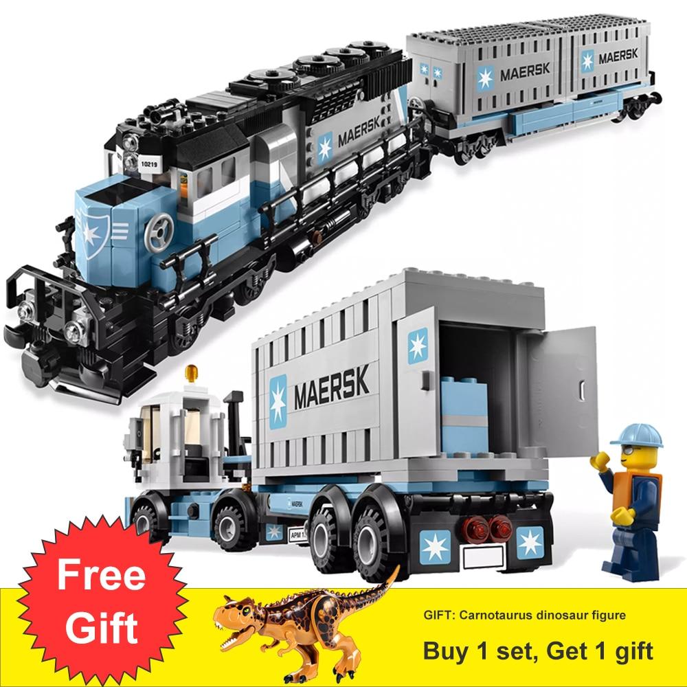 1234 Pcs Ultime Maersk Train & Emerald Nuit Ensemble Avec Chiffres Blocs de Construction Jouets Pour Enfants Cadeau Fit Legoness Technique 10219