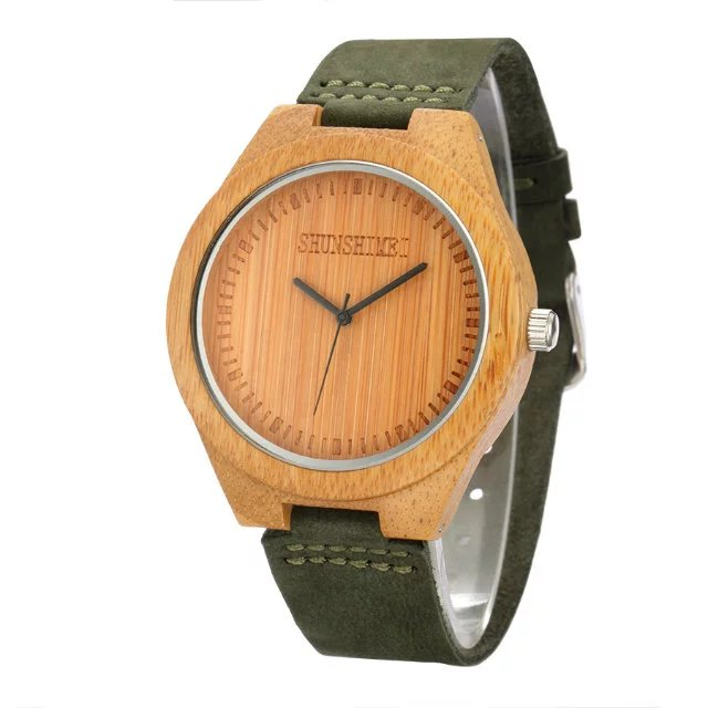 Wooden Watch Male Brand Luxury for Women Leather Strap Relogio Masculino Dropshipping Man light watch in Lover 39 s Watches from Watches