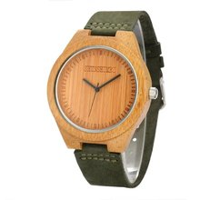 Wooden Watch Male  Brand Luxury for Women Leather Strap Relogio Masculino Dropshipping Man light watch