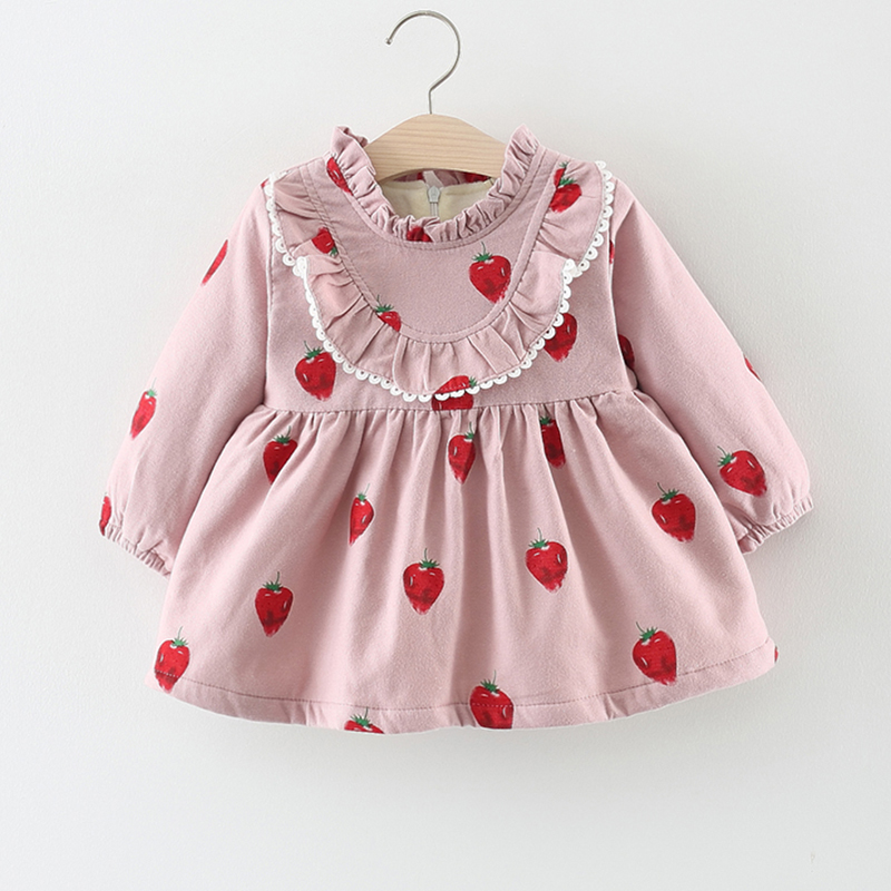 Baby Dress Winter 1 Year Old Baby Girls Dress pink New ...