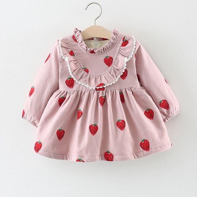 Baby Dress Winter 1 Year Old Baby Girls Dress Pink New Born Baby