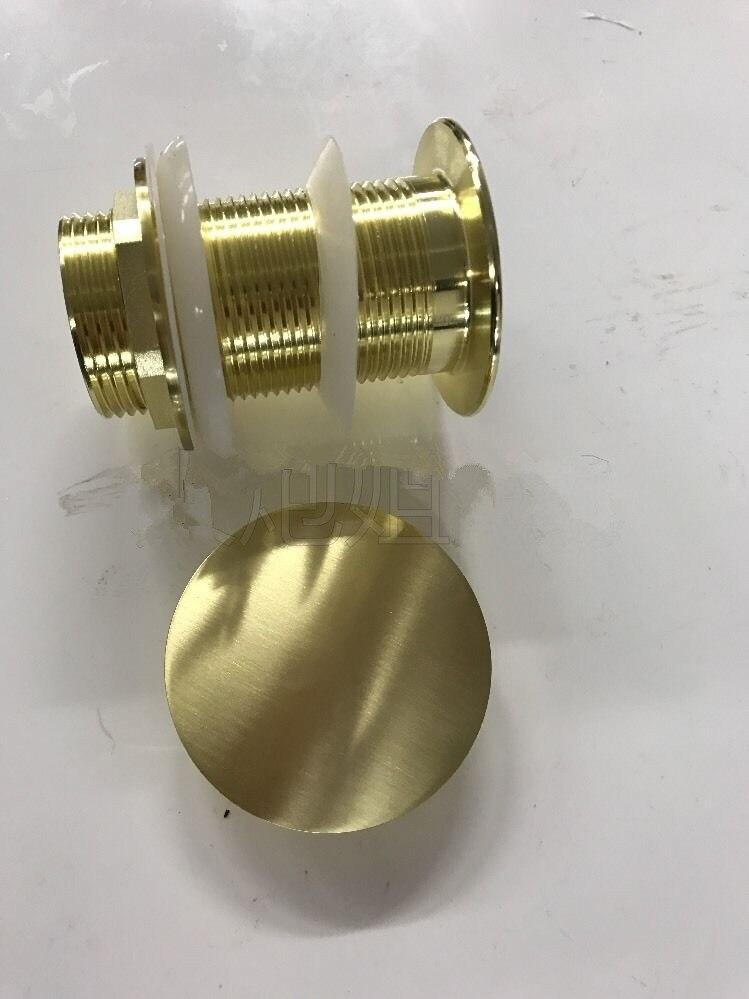 MTTUZK латунный матовый золотой сливной умывальник сливной баллистический слив