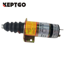 24V Fuel Stop Solenoid 366 07198 1502 24 SA 3405 24 For Lister Petter Diesel Engine