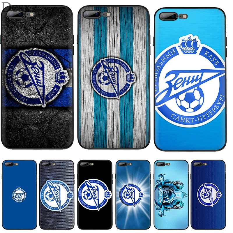 Cell Phone Case Silicone TPU for iPhone 7 8 6 6s Plus iPhone 11 Pro X XS Max XR 5 5s SE Cover Zenit football Club Logo Shell