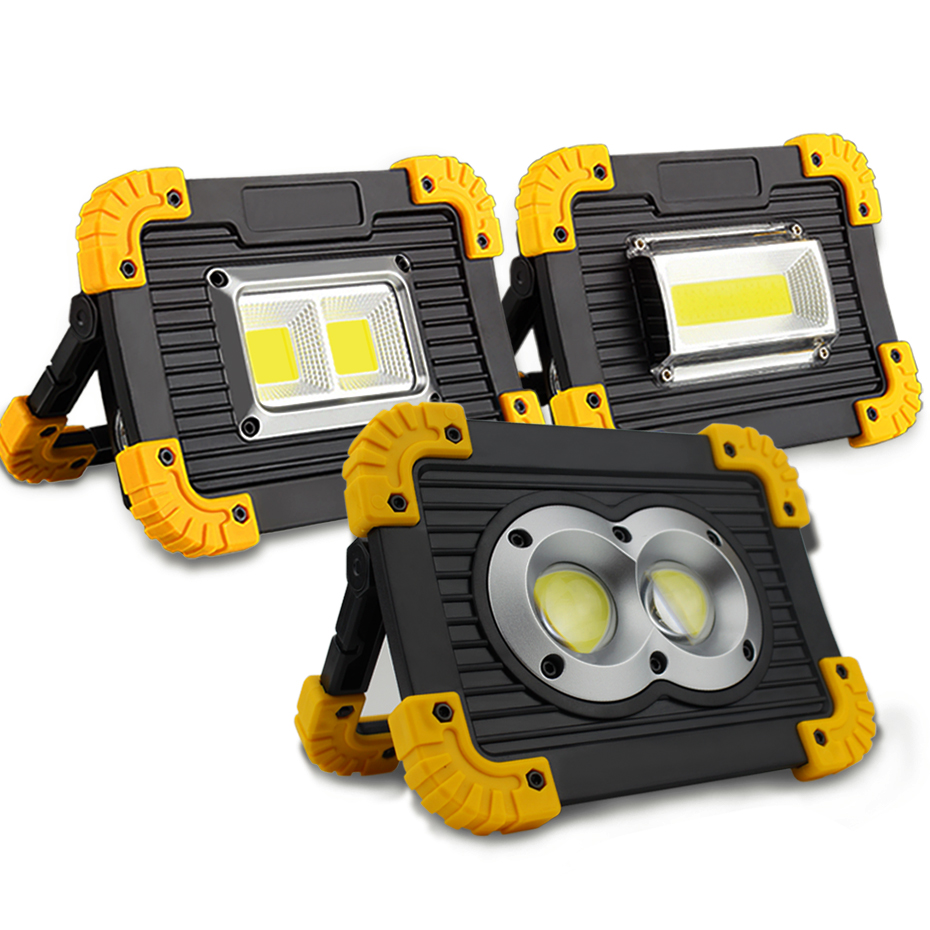 Lampe Led Portable Spotlight Led Work Light Rechargeable 18650 Battery Outdoor Light For Hunting Camping Led
