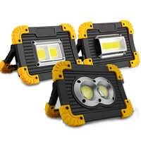 Lampe Led Portable projecteur Led lumière de travail Rechargeable 18650 batterie lumière extérieure pour la chasse Camping Led Lampe de poche latérale