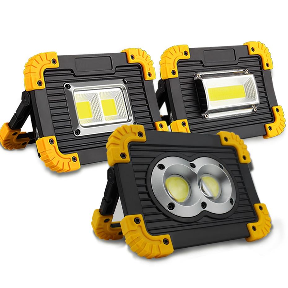 Lampe led portátil spotlight led luz de trabalho recarregável 18650 bateria ao ar livre luz para caça acampamento led latern lanterna