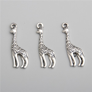 20 шт Подвески серебряного цвета кулон в форме жирафа подходят браслеты ожерелье DIY Металлические Ювелирные изделия A2761
