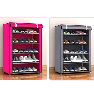 Image 5 - Non woven Fabric Storage Shoe Rack Hallway Cabinet Organizer Holder 4/5/6 Layers Assemble Shoes Shelf DIY Home Furniture