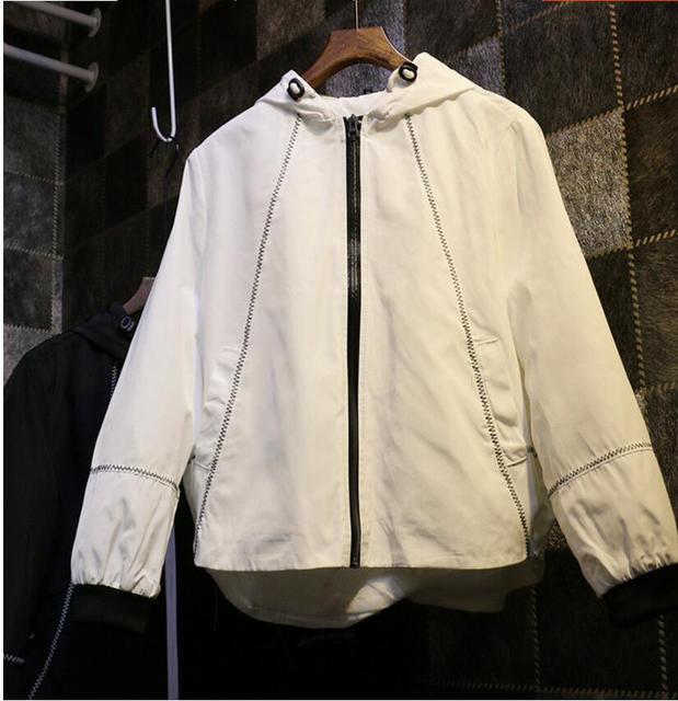 Dark streets open air personality raglan sleeve drawstring hooded cardigan jacket spring