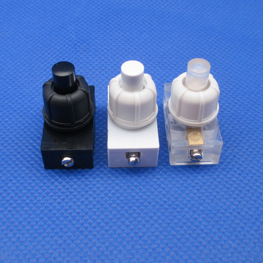 5 Pcs Lamp Electrical Fittings With Nut Micro-motion Small Switch Self-locking Push Button Switch Screw Assembly