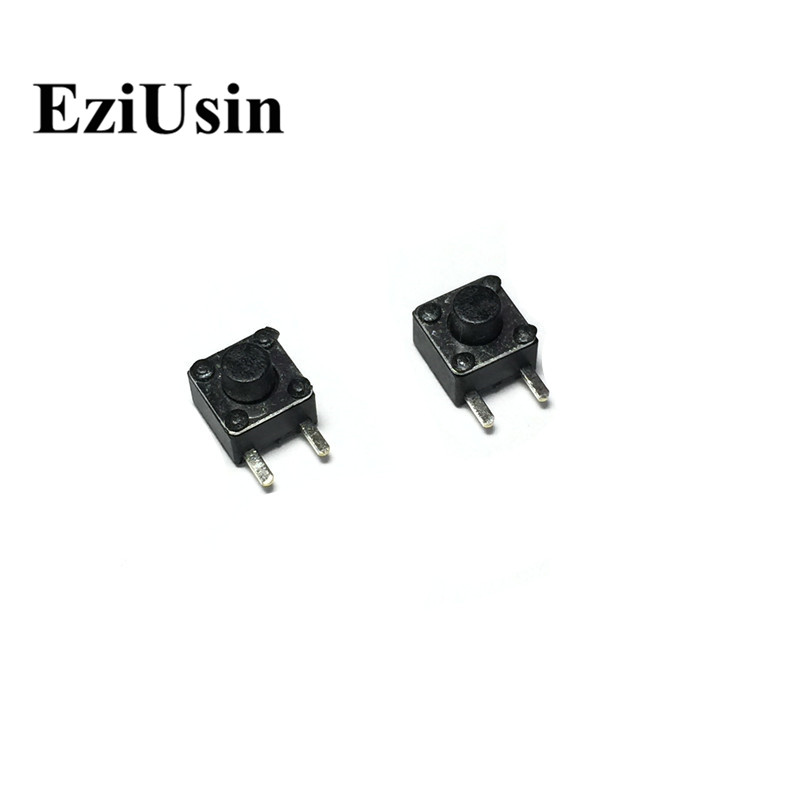 EziUsin 4.5*4.5*4.3 2P Flank Side Feet PCB Keyboard Touch Button Micro Switch Square DIP Mini Momentary For Arduino Maker Sound