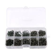 600 Pcs/Lot 3# -12# Carbon Steel Fishing Hook Fishhooks Durable Pesca Jig Head Fishing Hooks with Hole Carp Fishing Tackle Box
