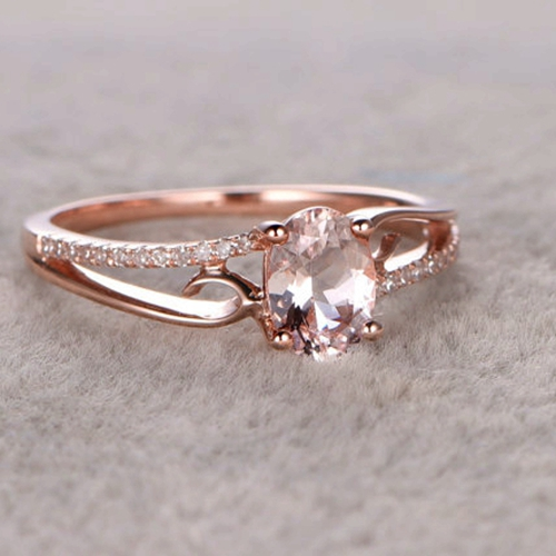 Bague Morganite Rose HV81