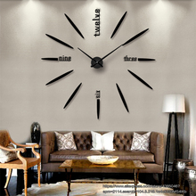 European new NBA rocket mirror energy saving clock creative wall stickers 3D acrylic DIY living room