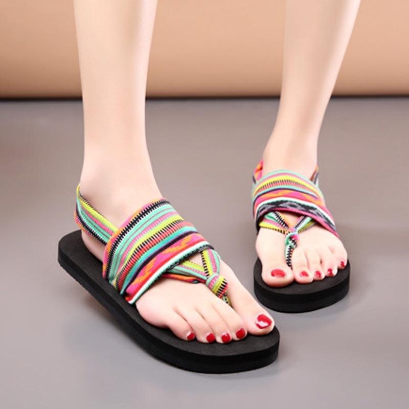 CoolFar Free shipping fashion comfort girls Bohemia flat flip flops Dress shoes rubber sandals beach shoes